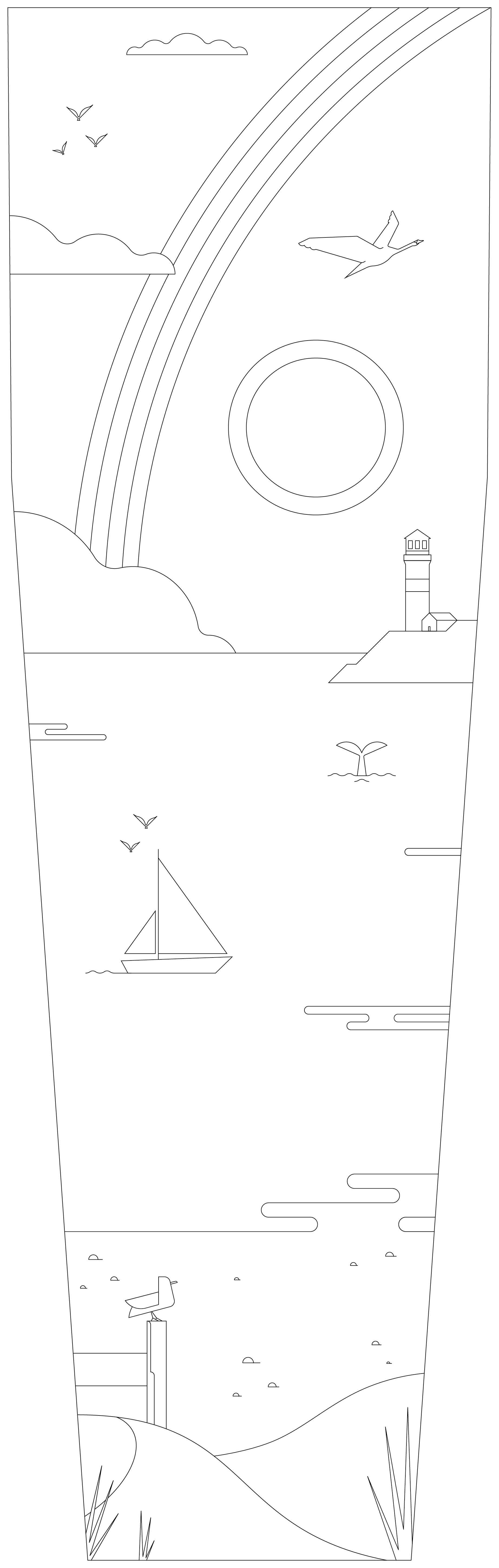 Illustratie Zeezicht - Kleurjekist